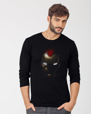 Shop Iron Man Shadows Full Sleeve T-Shirt (AVL)-Front