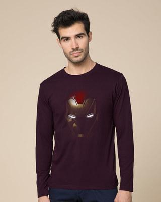 Shop Iron Man Shadows Full Sleeve T-Shirt (AVL)-Front