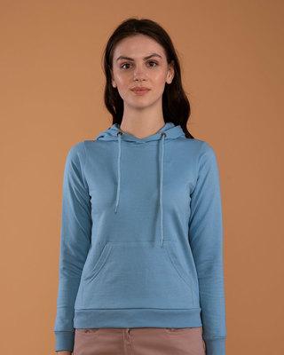 Shop Island Blue Fleece Hoodies-Front