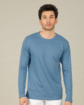 Shop Island Blue Full Sleeve T-Shirt-Front
