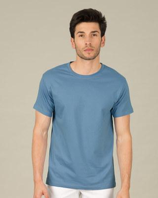 Shop Island Blue Half Sleeve T-Shirt-Front