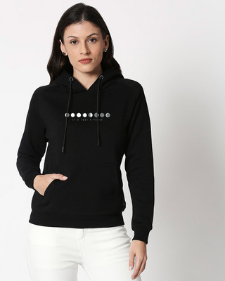 Shop It's Just A Phase Sweatshirt Hoodie Black-Front