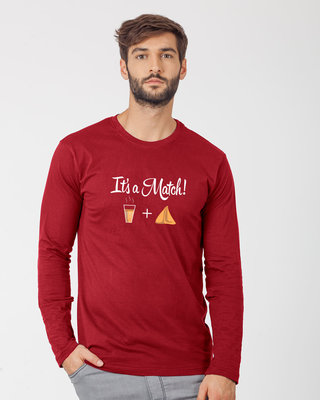 Shop Its A Match Full Sleeve T-Shirt-Front