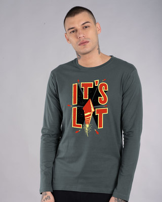 Shop Its Lit Full Sleeve T-Shirt-Front
