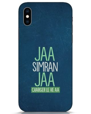 Shop Jaa Simran Jaa Charger Le Ke Aa iPhone XS Mobile Cover-Front