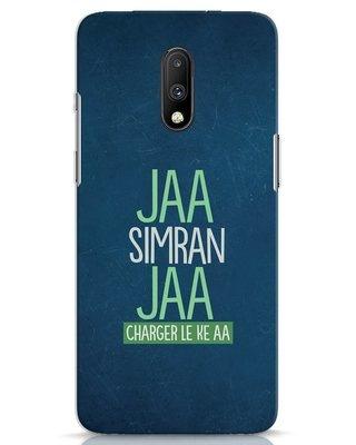 Shop Jaa Simran Jaa Charger Le Ke Aa OnePlus 7 Mobile Cover-Front