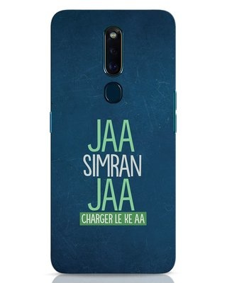 Shop Jaa Simran Jaa Charger Le Ke Aa Oppo F11 Pro Mobile Cover-Front