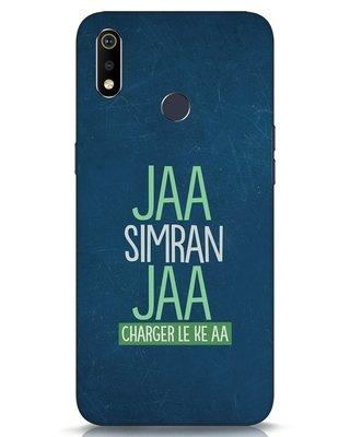 Shop Jaa Simran Jaa Charger Le Ke Aa Realme 3i Mobile Cover-Front