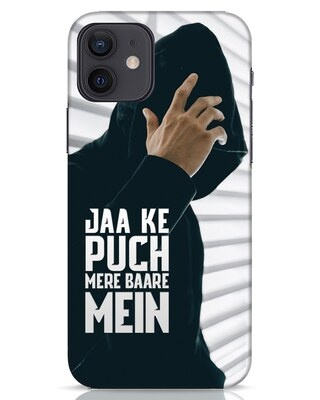 Shop Jaake Puch Mere Baare Mein iPhone 12 Mobile Cover-Front