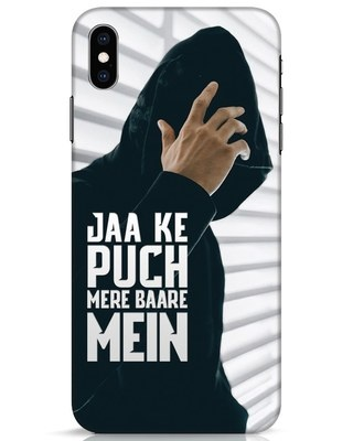 Shop Jaake Puch Mere Baare Mein iPhone XS Max Mobile Cover-Front