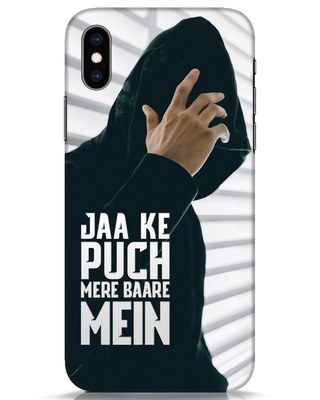 Shop Jaake Puch Mere Baare Mein iPhone XS Mobile Cover-Front