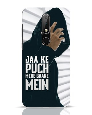 Shop Jaake Puch Mere Baare Mein Nokia 6.1 Plus Mobile Cover-Front
