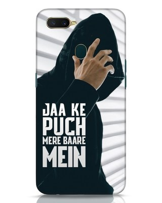 Shop Jaake Puch Mere Baare Mein Oppo A7 Mobile Cover-Front
