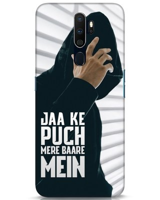Shop Jaake Puch Mere Baare Mein Oppo A9 2020 Mobile Cover-Front