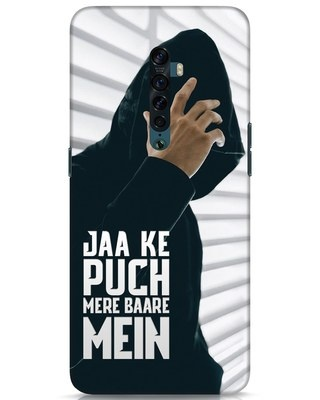 Shop Jaake Puch Mere Baare Mein Oppo Reno 2 Mobile Cover-Front