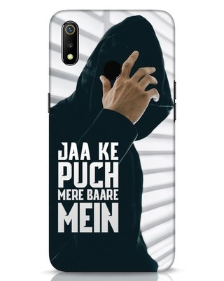 Shop Jaake Puch Mere Baare Mein Realme 3 Mobile Cover-Front