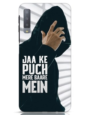 Shop Jaake Puch Mere Baare Mein Samsung Galaxy A7 Mobile Cover-Front