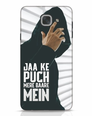 white_stub Shop Jaake Puch Mere Baare Mein Samsung Galaxy J7 Max Mobile Cover-Front