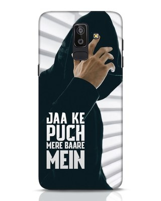Shop Jaake Puch Mere Baare Mein Samsung Galaxy J8 Mobile Cover-Front