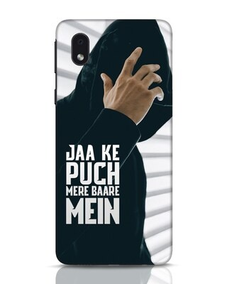 Shop Jaake Puch Mere Baare Mein Samsung Galaxy M01 Mobile Cover-Front
