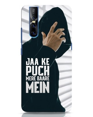 Shop Jaake Puch Mere Baare Mein Vivo V15 Pro Mobile Cover-Front