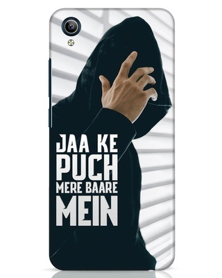 Shop Jaake Puch Mere Baare Mein Vivo Y91i Mobile Cover-Front