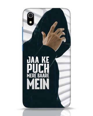 Shop Jaake Puch Mere Baare Mein Xiaomi Redmi 7A Mobile Cover-Front