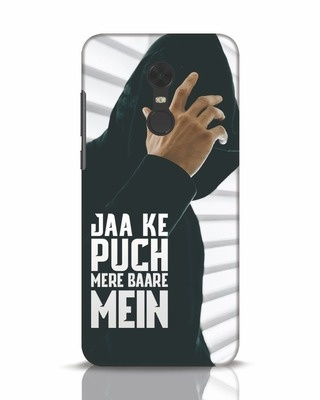 Shop Jaake Puch Mere Baare Mein Xiaomi Redmi Note 5 Mobile Cover-Front