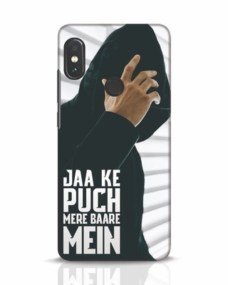 Shop Jaake Puch Mere Baare Mein Xiaomi Redmi Note 5 Pro Mobile Cover-Front
