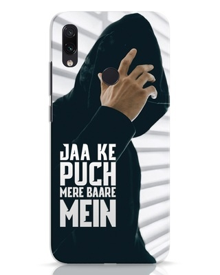 Shop Jaake Puch Mere Baare Mein Xiaomi Redmi Note 7 Mobile Cover-Front