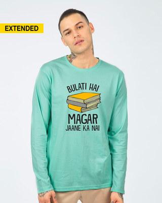 Shop Jaane Ka Nai Full Sleeve T-Shirt-Front
