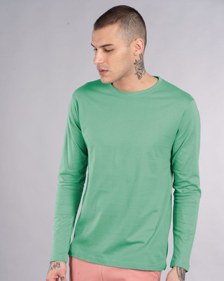 Shop Jade Green Full Sleeve T-Shirt-Front