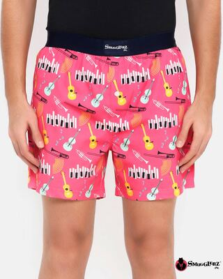 Shop Smugglerz Jazz Men's Prineted Boxer-Front
