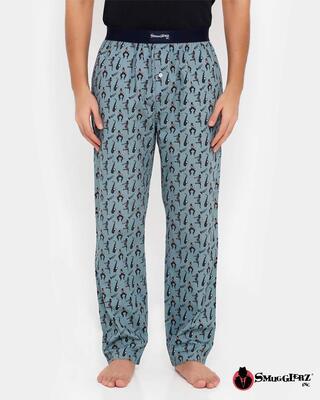 Shop Smugglerz Jazz Pyjamas Grey-Front