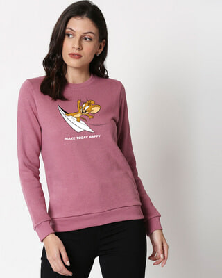 Shop Jerry Happy Today  Fleece Sweater-Front