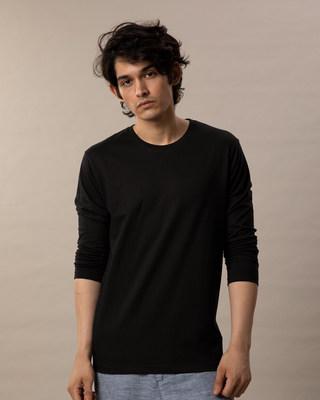 Buy Jet Black Full Sleeve T-Shirt Online India @ Bewakoof.com