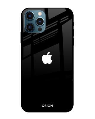 Shop Qrioh iPhone 12 Pro Jet Black Glass Case-Front