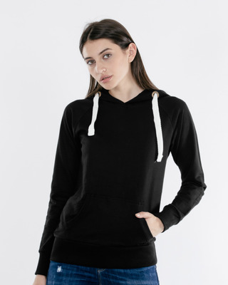Shop Jet Black Raglan Sweatshirt-Front