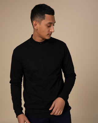 Shop Jet Black Sweatshirt-Front