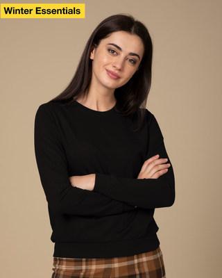 Shop Jet Black Sweatshirt-Front
