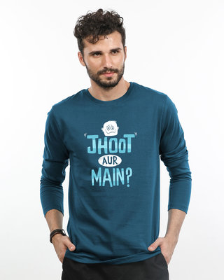 Shop Jhoot Aur Main Full Sleeve T-Shirt-Front