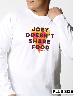 Shop Joey Doesn't Share (FRL) Full Sleeves Plus Size T-Shirt-Front