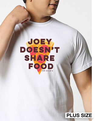Shop Joey Doesn't Share (FRL) Half Sleeve Plus Size T-Shirt-Front
