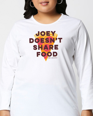 Shop Joey Doesn't Share(FRL) Full Sleeve Plus Size T-Shirt-Front