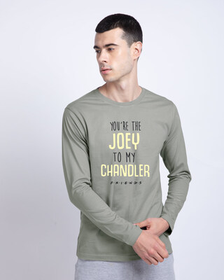 Shop Joey To My Chandler Full Sleeve T-Shirt ( FRL )-Front