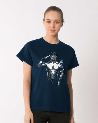 Shop John Cena Illustration Boyfriend T-Shirt (WWEL)-Front