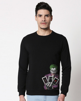 Shop Joker Cards Fleece Sweater (BML)-Front