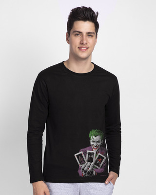 Shop Joker Cards Full Sleeve T-Shirt (BML)-Front