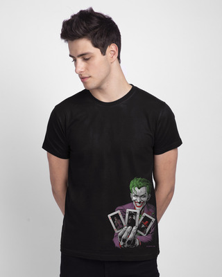 Shop Joker Cards Half Sleeve T-Shirt (BML)-Front