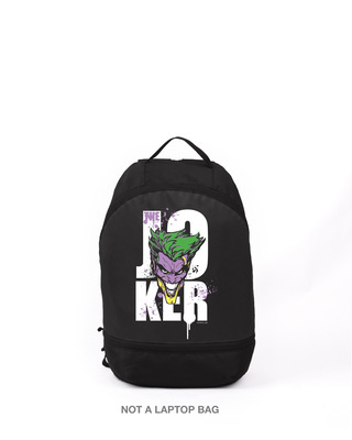 Shop Joker Splash Printed Small Backpacks-Front